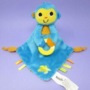 Bruin blue orange monkey chimp comforter teether blankie doudou lovey Toys R Us