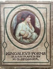 M D Spooner CHARLES KINGSLEY'S POEMS ART NOUVEAU Poetry Antique Dibdin