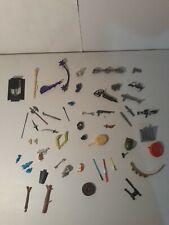 Vintage 1980's 1990's Action Figure Weapons, Parts, Accessories Lot of 50+
