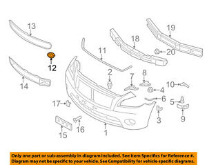 Infiniti NISSAN OEM 11-13 M56 Front Bumper-Trim Ring Right 622561MA2A
