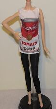 Andy Warhol Campbell's Soup Barbie Outfit Fashion Only Tunic, Leggings, Earrings