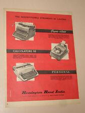 REMINGTON RAND MACCHINA DA SCRIVERE=ANNI '50=PUBBLICITA=ADVERTISING=WERBUNG=357