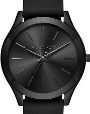 Michael Kors Women's Slim Runway Sporty Black Silicone Strap Watch 42mm MK2513