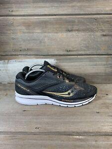 Saucony Kinvara 9 Men's Size 10 Silver Gray Black Gold Running Shoe Everun Light