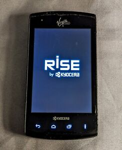Kyocera Rise C5155 - 2GB - Black Virgin Mobile (Sprint) Smartphone Slider Phone