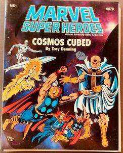 VINTAGE 1980'S TSR RPG D&D MARVEL SUPER HEROES COSMIC TRILOGY 1-3 LOT ME1-3
