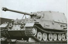 WW II German Photo --  Sd.Kfz. 184.Tank Destroyer -Elephant & On Train