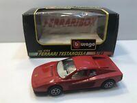 1/43 Scale Burago - Ferrari Testarossa Car - Red In Color *IN BOX*
