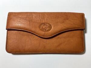 Buxton Tan Leather Women's Organizer Wallet Top Grain Cowhide