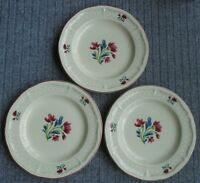 Set of 3 Tienshen Country Fleur Stoneware Oven to Table Dinner Plates