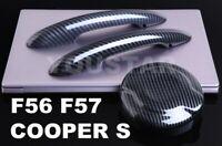 AU STOCK Carbon Effect Door Handle Covers & Gas Cap for MINI SD F56 F57 Cooper S