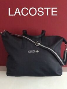 🆕LACOSTE WEEKEND BAG TRAVEL BAG GYM BAG DUFFLE HOLDALL Navy New💙💙
