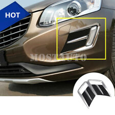 For VOLVO XC60 ABS Front Bumper Grille Fog Light Cover Trim 2pcs  2014-2016