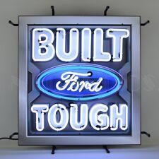 "Built Ford Tough Car Garage Olp Sign Neon Light Sign 24""x24"""