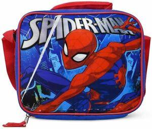 Marvel Spider-Man Swing Insulated Lunch Bag w/Shoulder Strap, Red/Blue