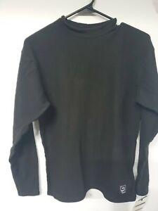 NWT Crew Layer Shirt/women Sz.small Quattro Fleece-Black-Acclimate Dry Wicking
