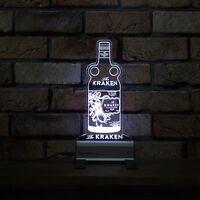 Kraken Rum Bottle LED Sign,Edgelit,Bar,Mancave,Led,Remote Control,Light,Gift