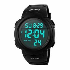 Skmei Extra Large Display Digital Watch Sports Stopwatch Alarm Light UK 1068