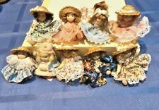 Lot of 9 Cameo Kids Collection Miniature Porcelain Dolls Limbs Move
