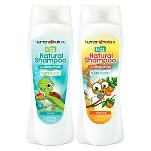 Human Nature Kids Natural Shampoo and Body Wash in Apple Scent 180ml