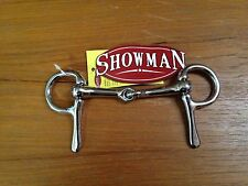 "New 4"" Half Cheek Broken Snaffle Driving Bit Shetland Pony Miniature Mini Horse"