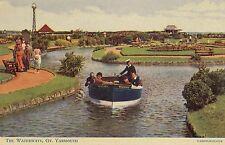 CN15. Vintage Postcard. The Waterways, Great Yarmouth.