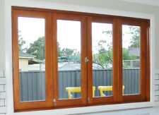 BIFOLD FRENCH WINDOWS, SOLID CEDAR TIMBER, 2100W X 1200H, IN STOCK