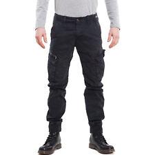 Pantalones de hombre cargo militares bolsillos lateral puños algodón W-1062