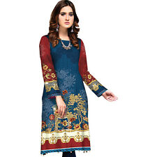 Sufia Fashions® Women Indian Dress Kurta Kurti Cotton Digital Print Tunic