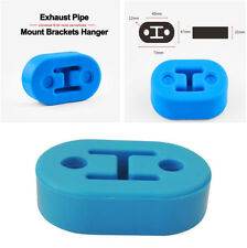 4pcs Universal 12mm 4 Holes Silicone Adjustable Muffler Exhaust Hanger Blue New