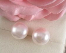 Vintage Jewelry Gold Pearl Earrings Ear Rings with large white Pearls Jewellery