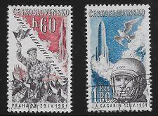 Checoslovaquia Scott# c51-52, individuales 1961 CONJUNTO COMPLETO fvf USADO