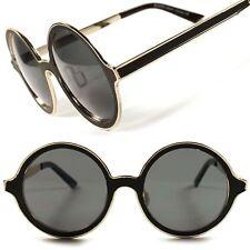 Stunning Designer Stylish Gold Vintage Retro Metal Round Womens Sunglasses D4B