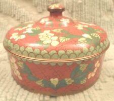 Antique Cloisonne Box Caddy Jar CHINA Mark