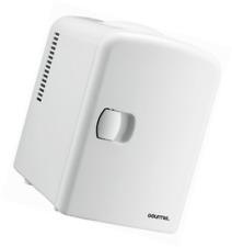 Gourmia Gmf600 Portable Cooler and Warmer 110V 6 Can Mini Fridge - White