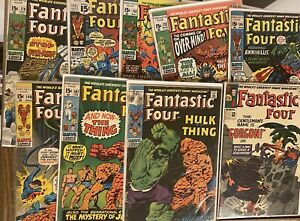 FANTASTIC FOUR - Silver Age LOT Of 10 Issues #44-115 🔥 🔑 🔥 Free Shipping!