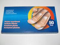 Boite Lot x50 Assortiment Pansement Adhésif Pérméable à l'air Sticking Plaster