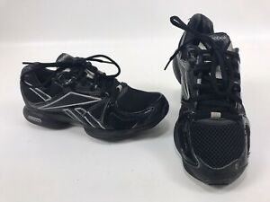 Reebok Easytone Athletic Running Toning Shoes Womens Size 6 Black / Silver