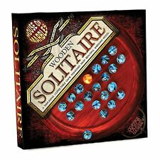 Vintage Wooden Solitaire Coffee Table Board Game #400844
