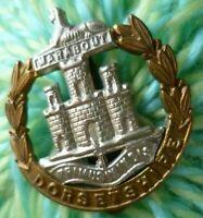 Dorsetshire Regiment Cap Badge Slider Bi-Metal ANTIQUE Original