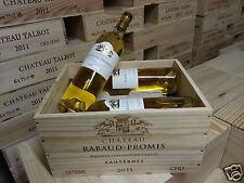 RABAUD PROMIS 2011  1er  GCC  SAUTERNES  CBO 6 BT  PARKER : 94/96 /100 !!!