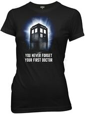 Doctor Who, You Never Forget Your First Doctor Tardis Juniors/Baby-Doll T-Shirt