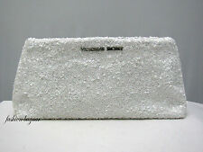 Victoria's Secret LIMITED EDITION WHITE SEQUIN CLUTCH - PURSE  >>NEW WITH TAG<<