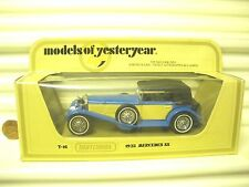 1981 MATCHBOX YESTERYEAR Y16B MERCEDES BENZ SS BLUE with Fawn SIDE PANELS MIMB*