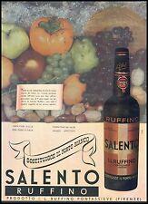 PUBBLICITA' 1938 VINO SALENTO RUFFINO PONTASSIEVE FIRENZE PORTO WINE BAR DRINK