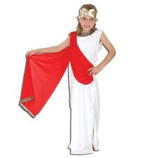 Girls Athena Roman Greek Toga Goddess Fancy Dress Costume Children Age 4 - 6