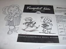 Vintage Quilt Pattern Campbell Kids Embroidery