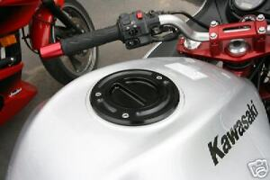 2006+ Kawasaki Gas Fuel Cap ZX6 ZX6R ZX10 ZX10R ZX14 ZX14R Z900RS in Black