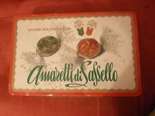 Scatola latta AMARETTI DI SASSELLO LIGURE DOLCIARIA - formato grande - VINTAGE
