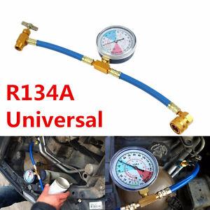 1Pcs Car Air Conditioning AC R134A Refrigerant Recharge Measuring Hose Gauge Kit